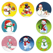 100-500PCS Snowman Stickers Christmas Gift Decoration  Packaging Stationery Happy Holidays  Seal Label