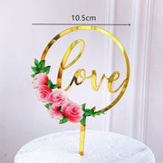 New Colored flowers Happy Birthday Cake Topper