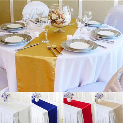 Satin Table Runners Party Decoration