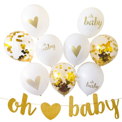 10 pcs/lot Baby Shower Decorations Gender Reveal