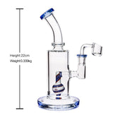 Bong Water Glass Bong Straight Bong Height 22cm and 14.5mm Joint for Smoking