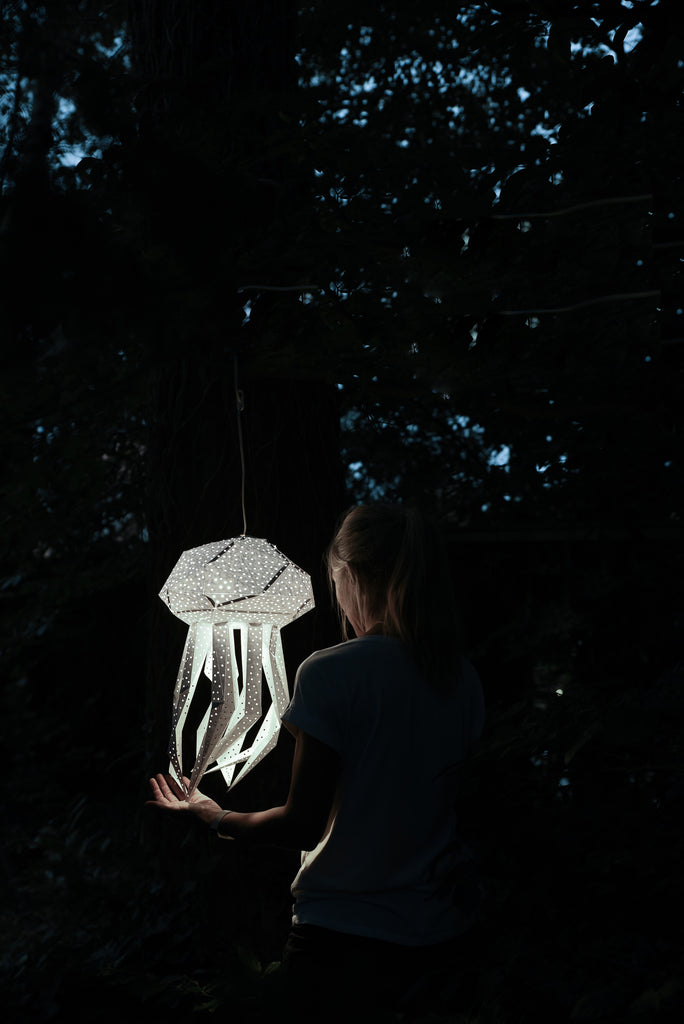 Jessica Rankell and her Jellyfish Lantern