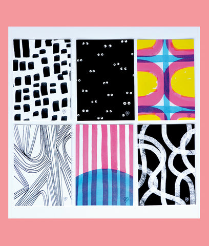 Construct-Deconstruct Limited Edition Greeting Cards, Set of 6