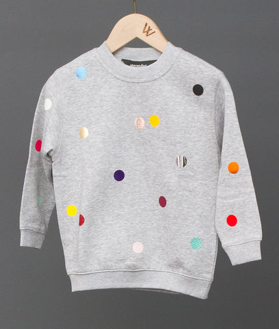 Points Sweater Kids, Grey