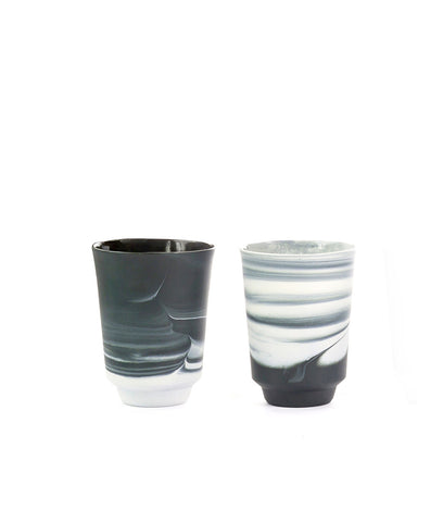 Pigments & Porcelain Tea/Latte Cup, Black