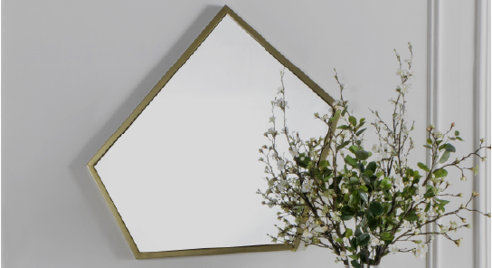 Mirror with Faux Floral