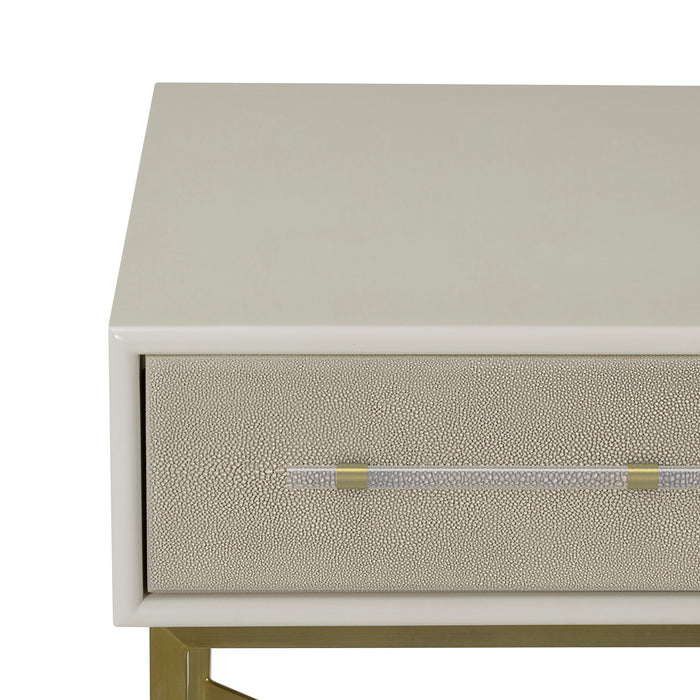 Faux Shagreen / Ivory