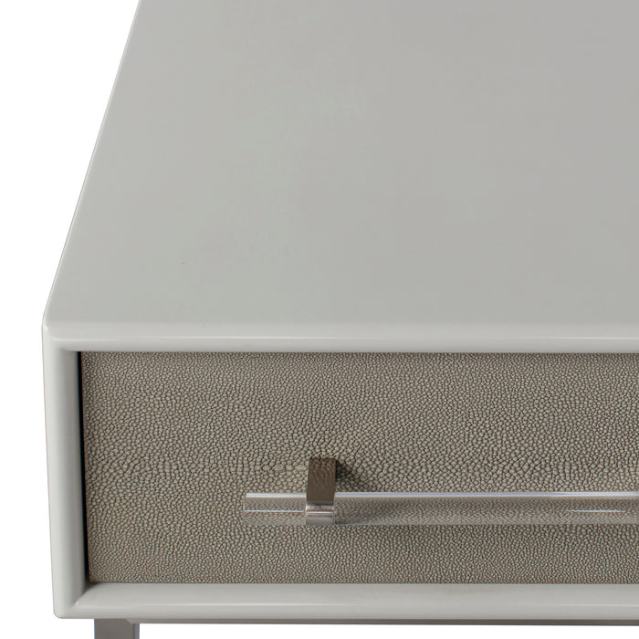 Emboss Faux Shagreen  / Grey & Light Bronze