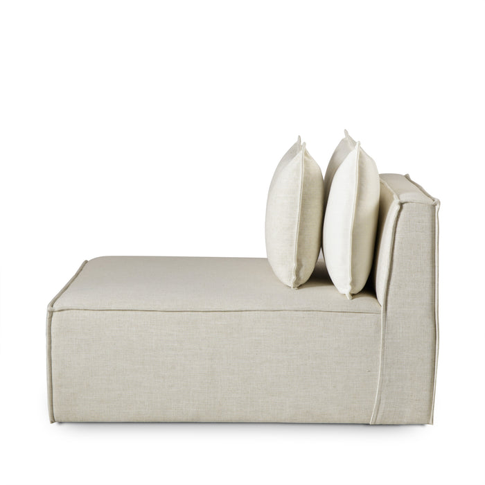 Armless Chair / Slip Cover / Madison Dove