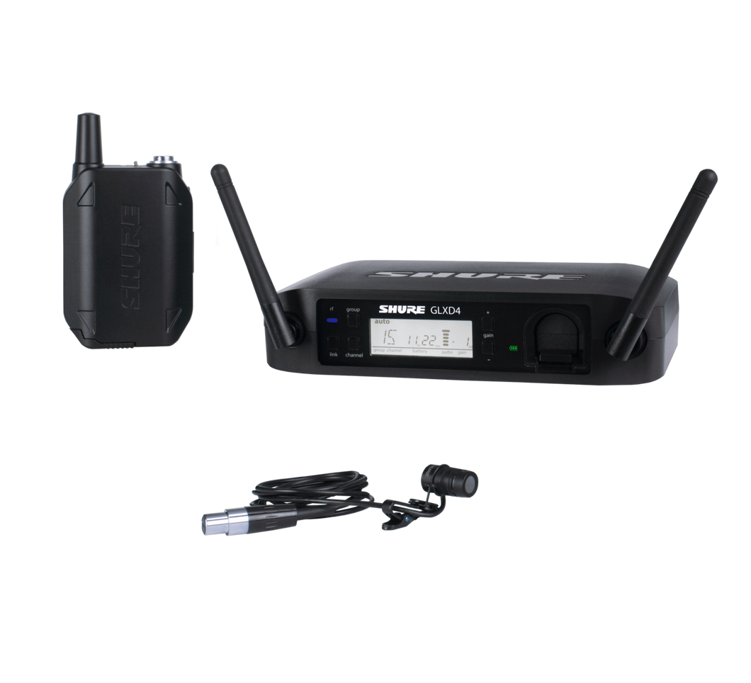 Shure GLXD14/85 Digital Wireless Presenter System with WL185 Lavalier Microphone