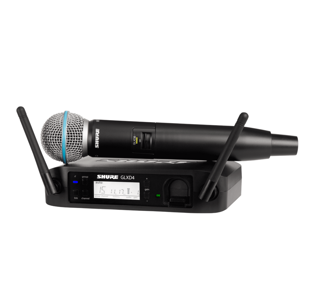 Shure GLXD24 Digital Wireless Vocal System with Handheld Vocal Microphone