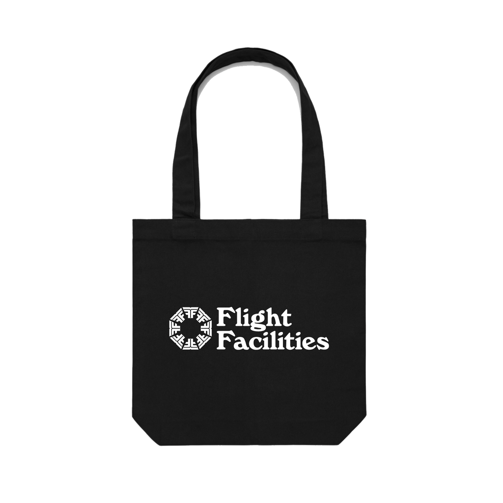 37,000 feet / Black Tote Bag