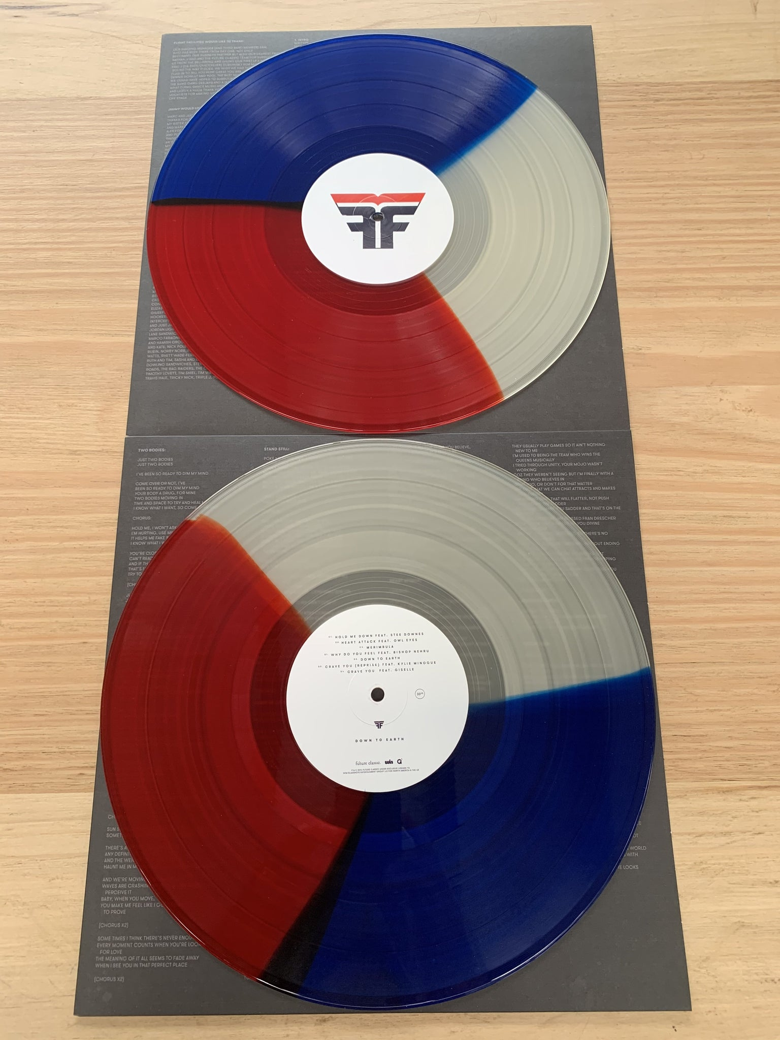 "Flight Facilities / Down To Earth 2 x 12"" Colour Vinyl"