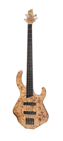 Duvoisin Custom Bass Poplar Burl Top, Bookmatched to Centre & Matching Control Knobs