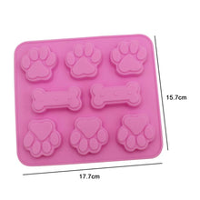 Load image into Gallery viewer, Paw Print & Bone Silicone Molds