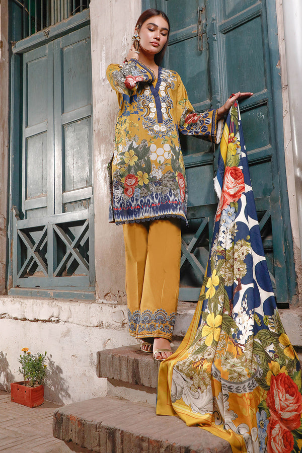SALWA(Cotton Satin Embroidered Collection)