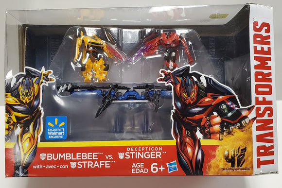 Transformers Age of Extinction Bumblebee with Dinobot Strafe vs. Decepticon Stinger Multipack