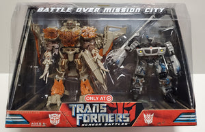 Transformers Battle Over Mission City Screen Battles Target Exclusive Megatron vs Jazz Sealed - collectablekingdom