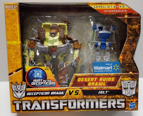 Transformers Hunt For The Decepticons Walmart Exclusive Brawl vs Jolt