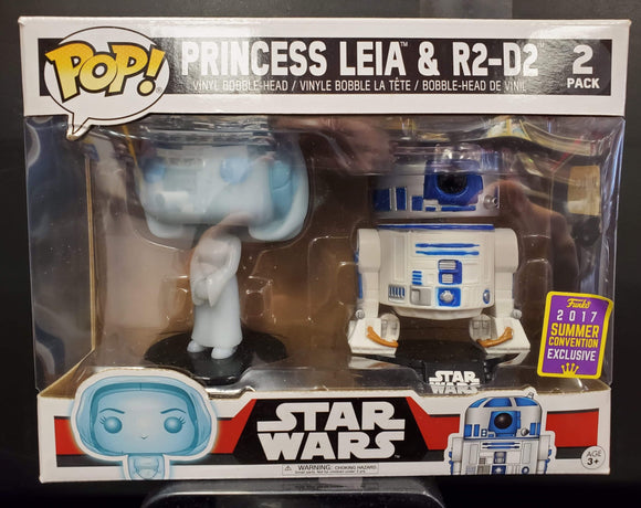POP! Princess Leia & R2-D2. 2 pack