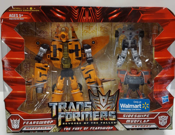 Transformers Revenge Of The Fallen Walmart Exclusive The Fury Of Fearswoop Fearswoopvs Sideswipe & Mudflap