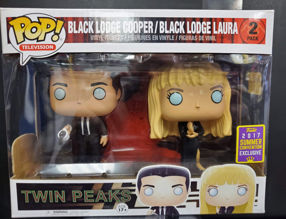 POP! Twin Peaks Black Lodge Cooper/Black Lodge Laura. 2 Pack