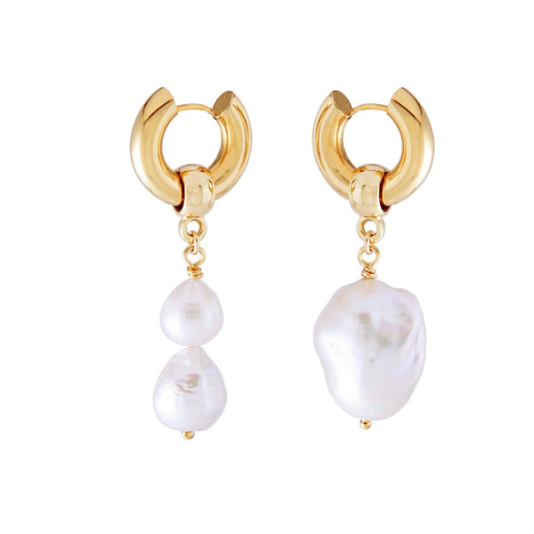 Mismatched Baroque Pearl Earrings