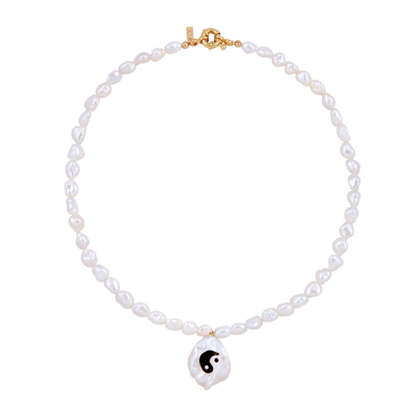 Yin to my Yang Pearl Necklace