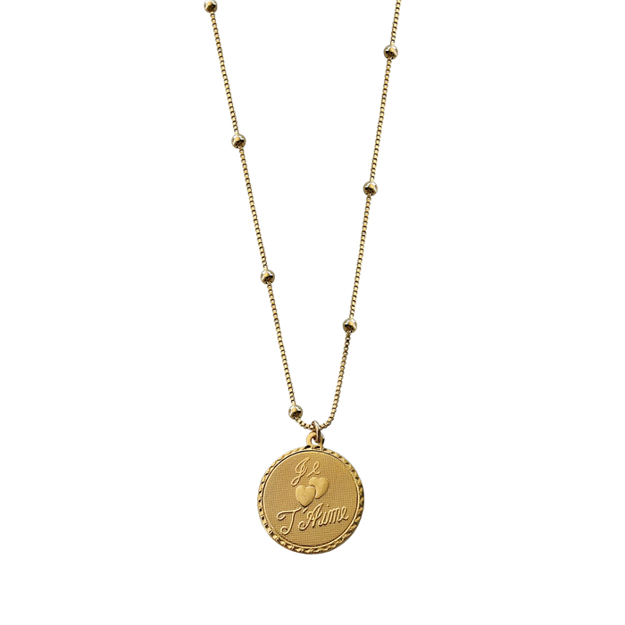 Je 'Taime Disc Necklace