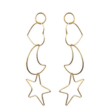 Heart Moon Star Earrings