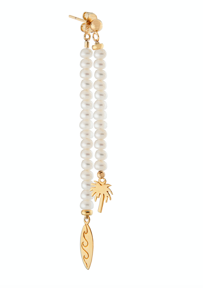 Paradise Drop Pearl Earrings