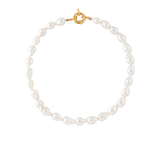 Mini Baroque Pearl Necklace