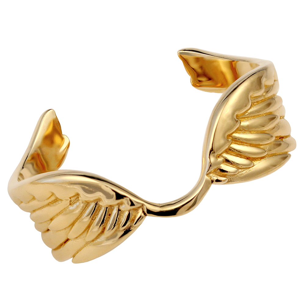angel wing bracelet cuff