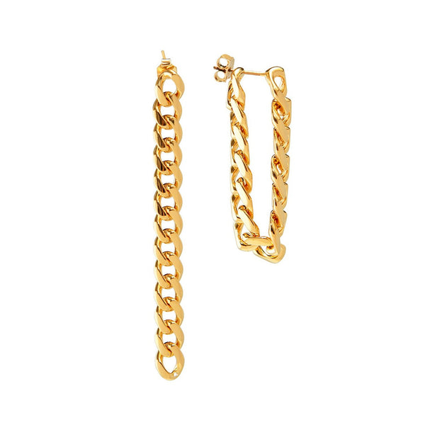 Curb Chain Link Earrings