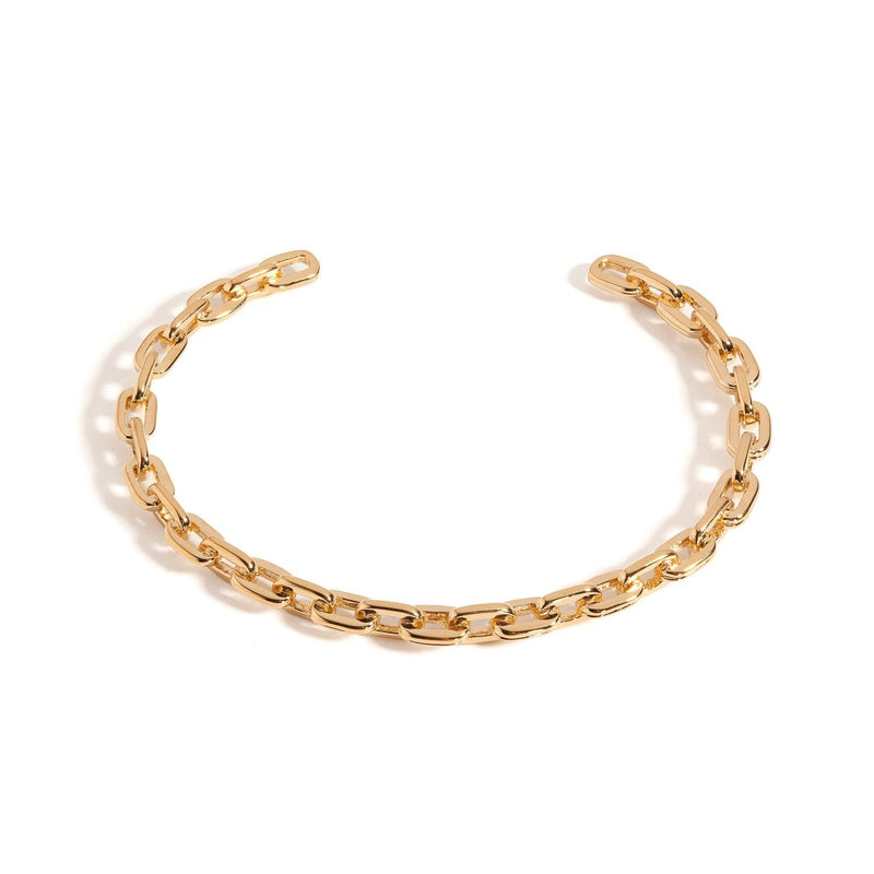 chain bracelet, chain cuff, open link bangle