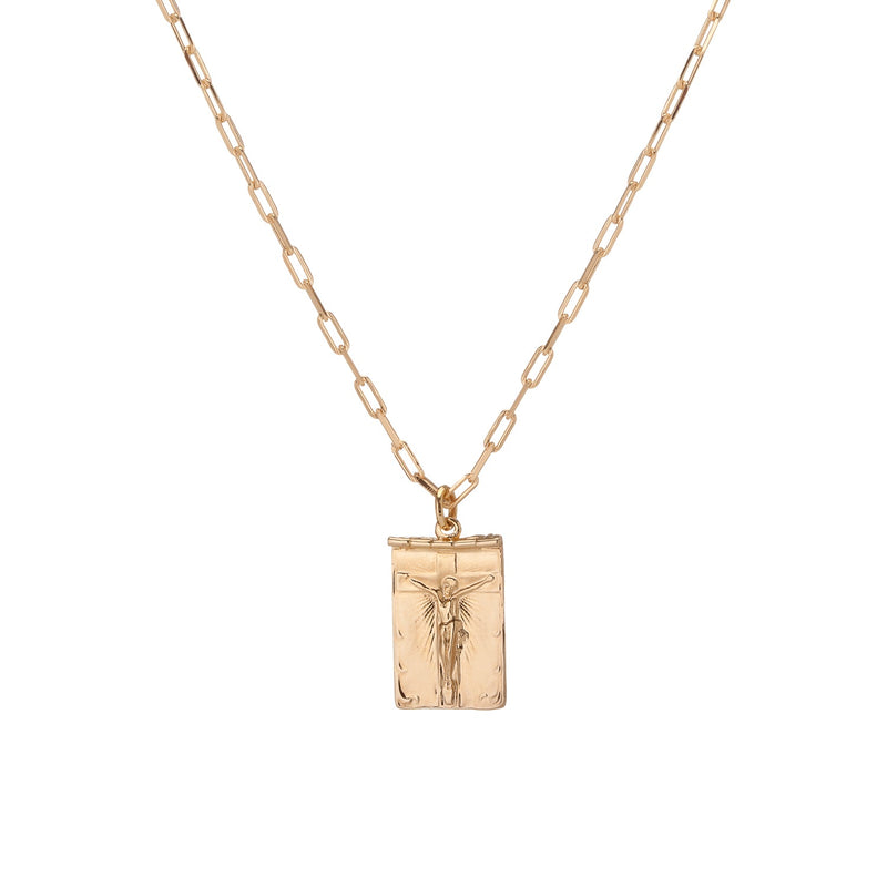 All in Faith Scroll Necklace