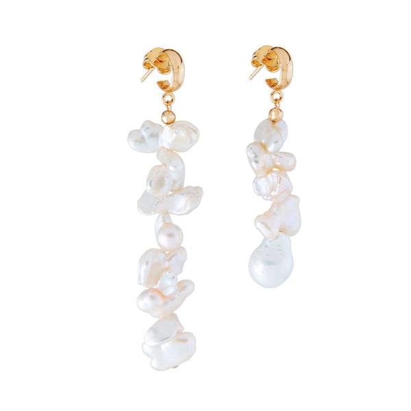 Mismatched Keshi Pearl Earrings