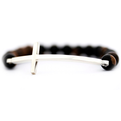 Men's Silver Cross Bracelet