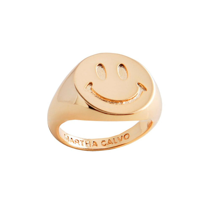 Be Happy Signet Ring