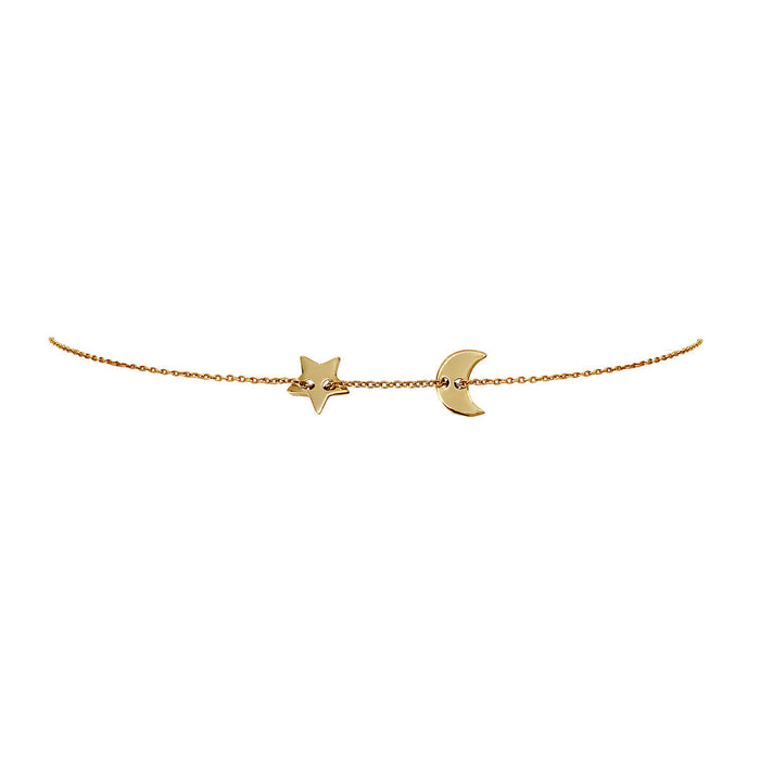 star and moon choker