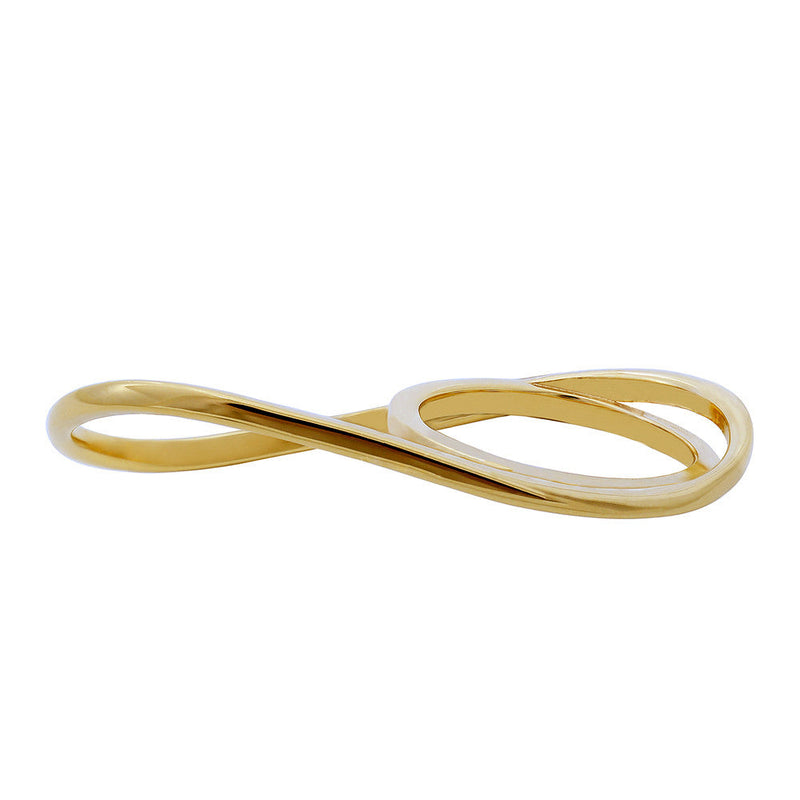 Wave Double Finger Ring