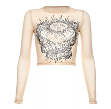 Load image into Gallery viewer, Sun Symbol Long Sleeve Crop Top