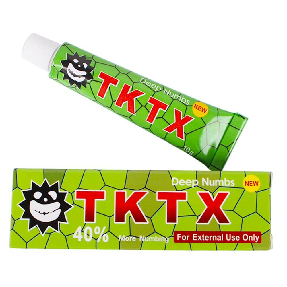Green 40% The Best TKTX Numb Cream Anesthetic 3-5 hours Fast Semi Permanent Skin Body Duration
