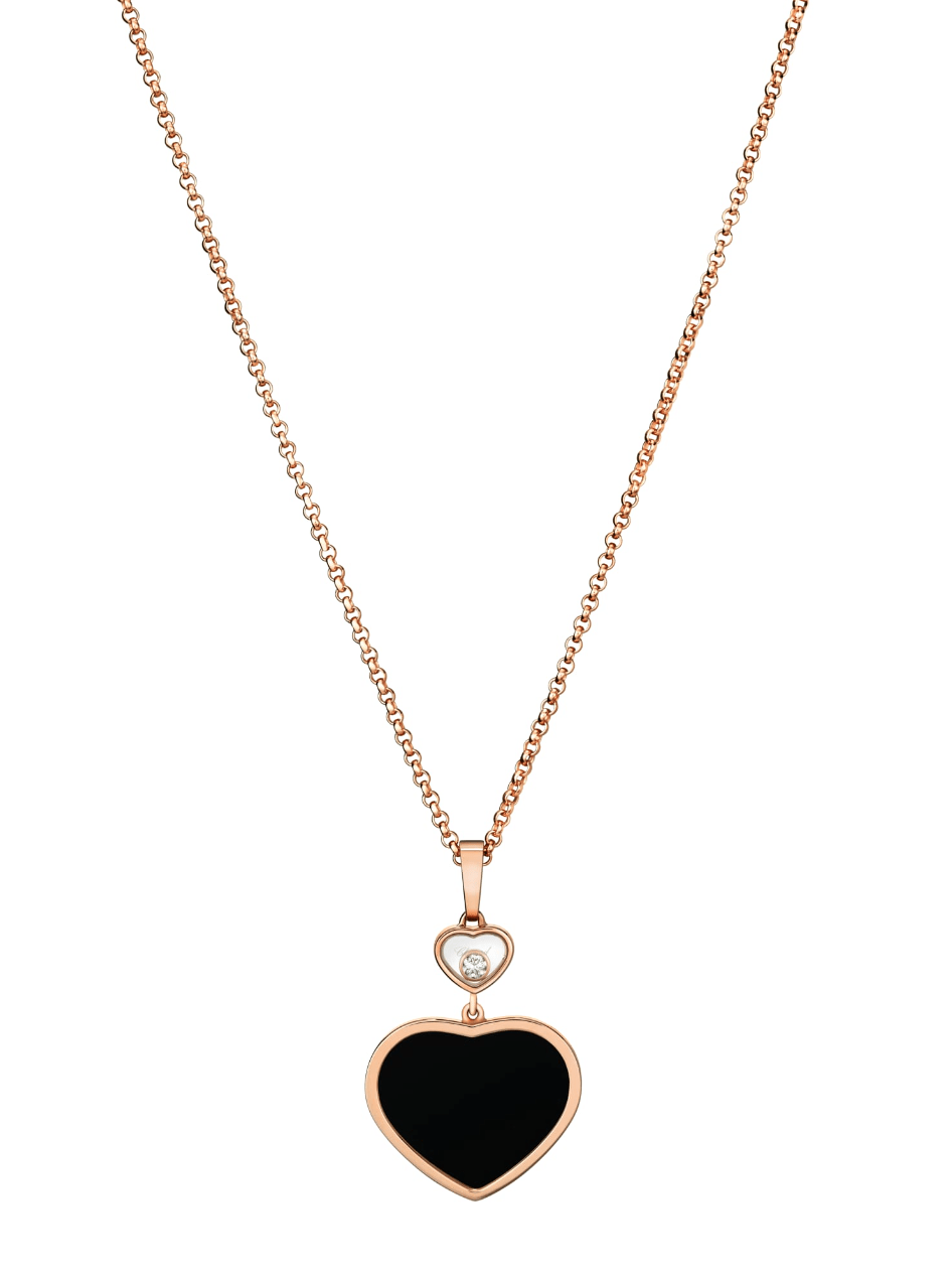 Chopard Schmuck - Kette Onyx `Happy Hearts