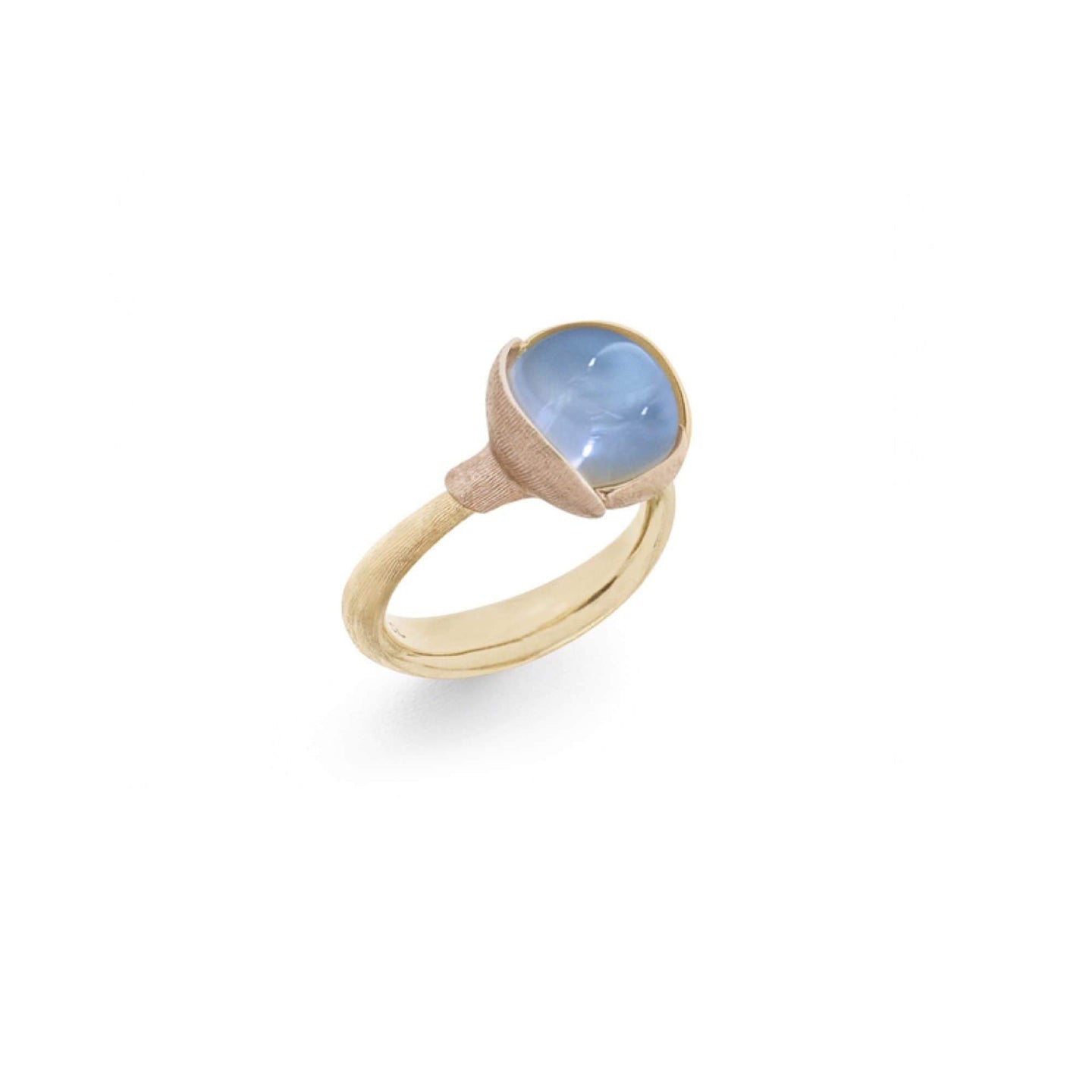 Lotus Ring mit Blautopas