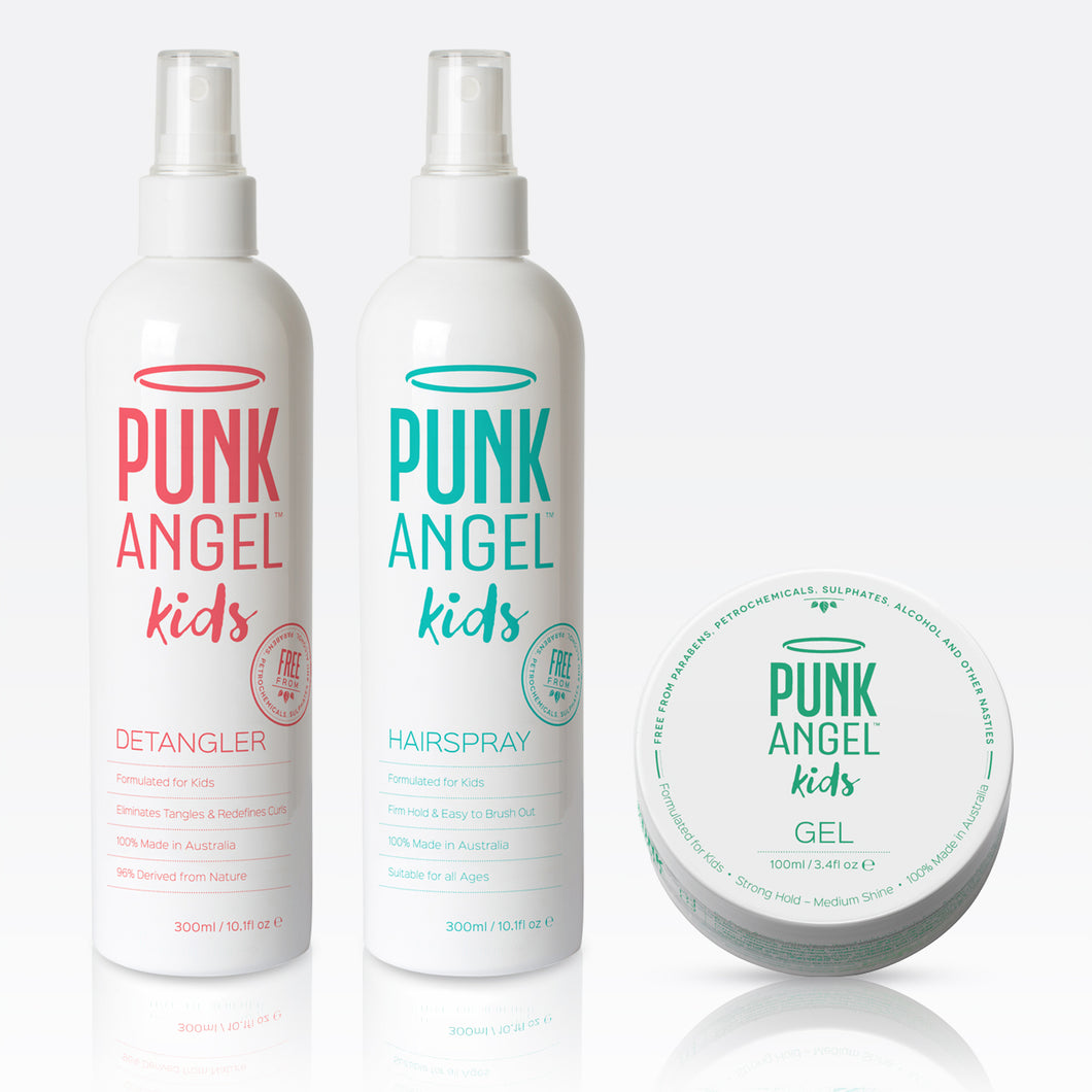 Trio Pack – Detangler + Gel + Hairspray
