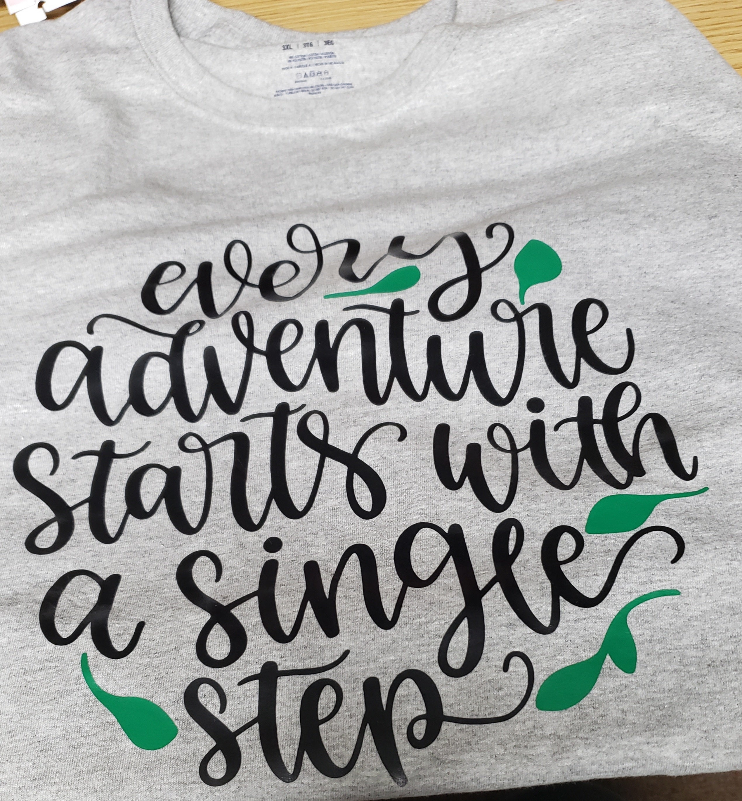 Every Adventure Starts With A Single Step tshirt