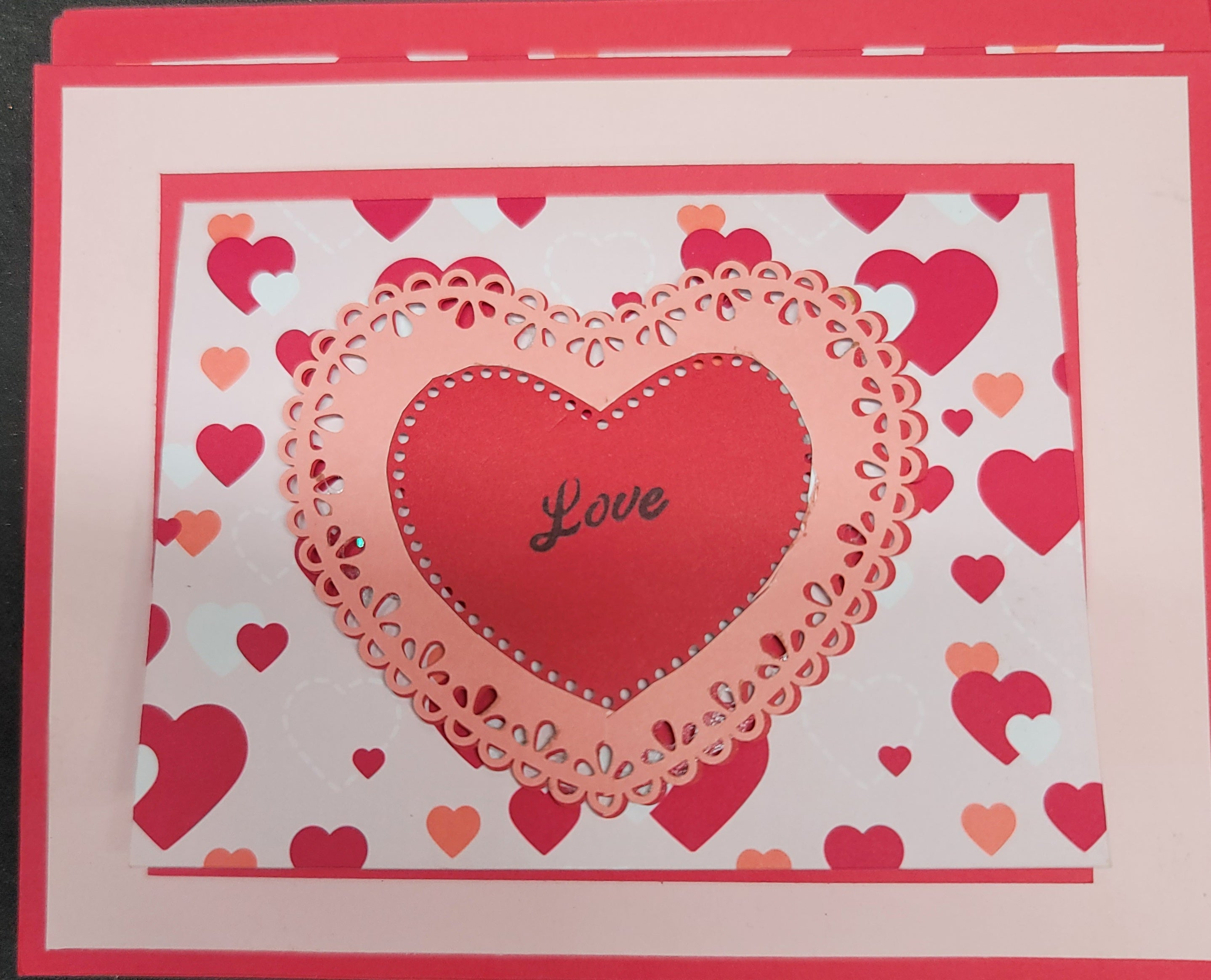 Love Card With Note Area