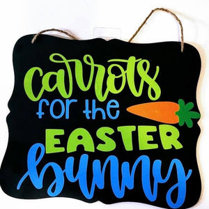 Carrots for the Easter Bunny Sign