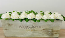 Load image into Gallery viewer, Rustic Planter Box Centerpiece With Roses